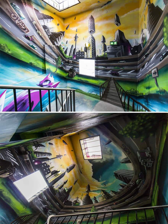 художники разрисовали стены студенческого общежития, фото 12