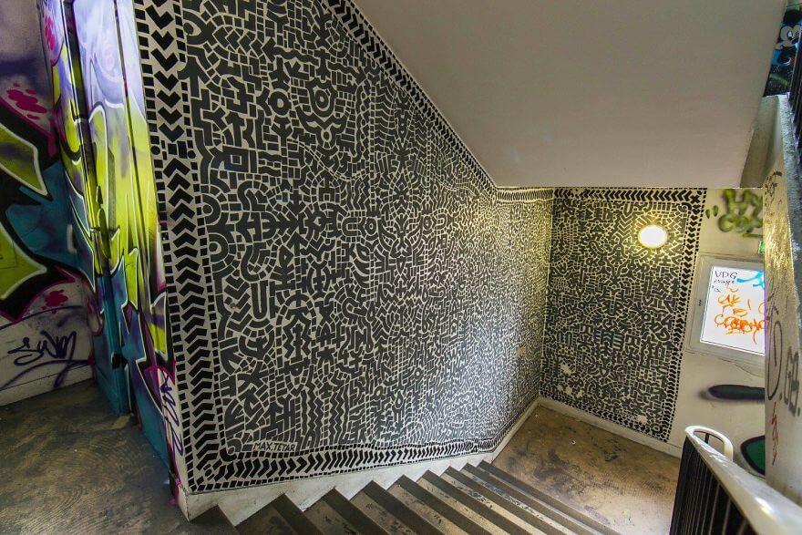 художники разрисовали стены студенческого общежития, фото 14