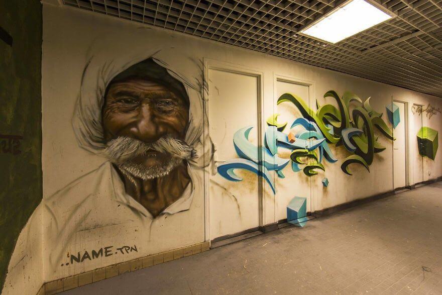 художники разрисовали стены студенческого общежития, фото 17