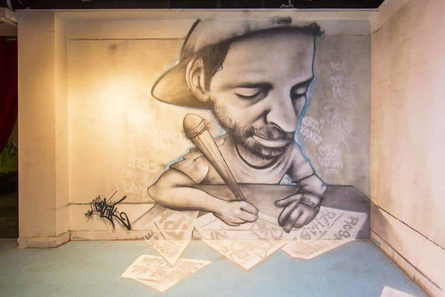 художники разрисовали стены студенческого общежития, фото 18