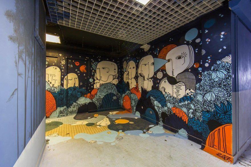 художники разрисовали стены студенческого общежития, фото 19