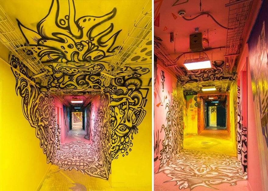художники разрисовали стены студенческого общежития, фото 2