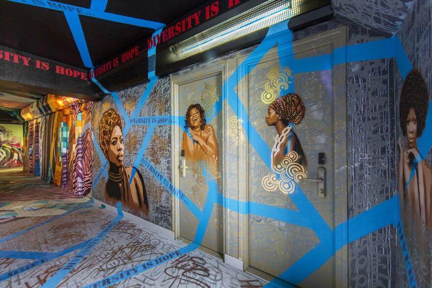 художники разрисовали стены студенческого общежития, фото 20
