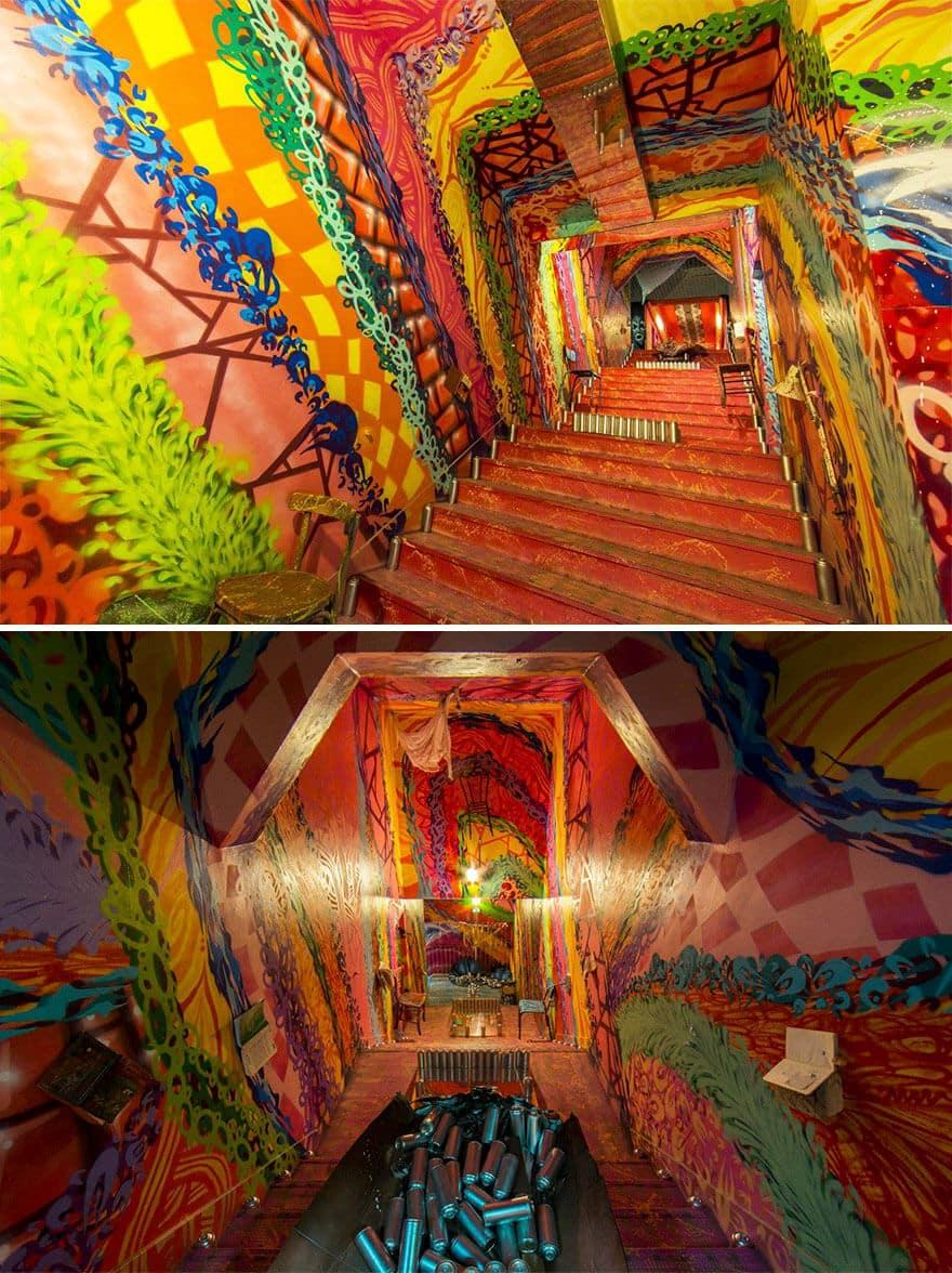 художники разрисовали стены студенческого общежития, фото 3