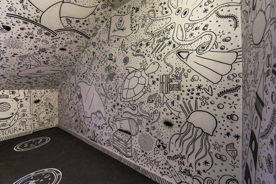 художники разрисовали стены студенческого общежития, фото 4