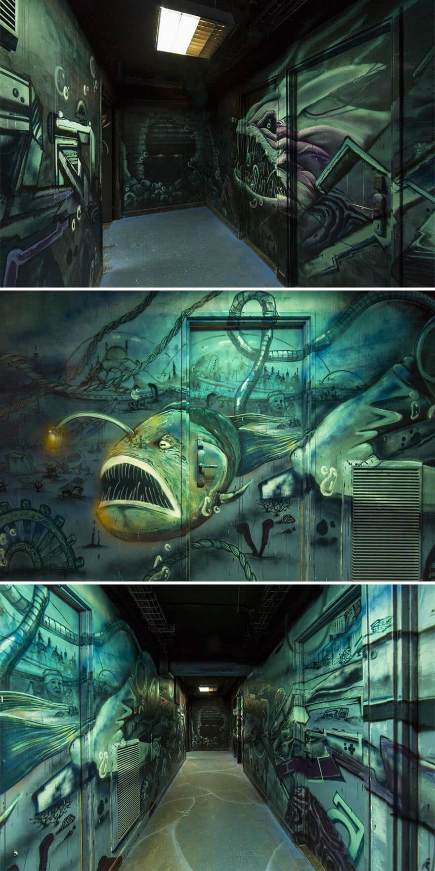 художники разрисовали стены студенческого общежития, фото 5