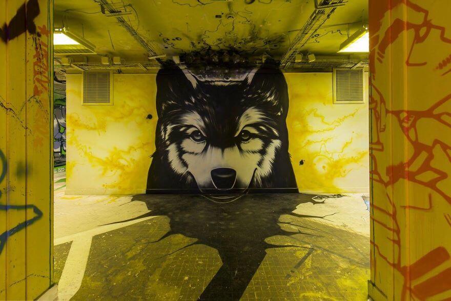 художники разрисовали стены студенческого общежития, фото 6