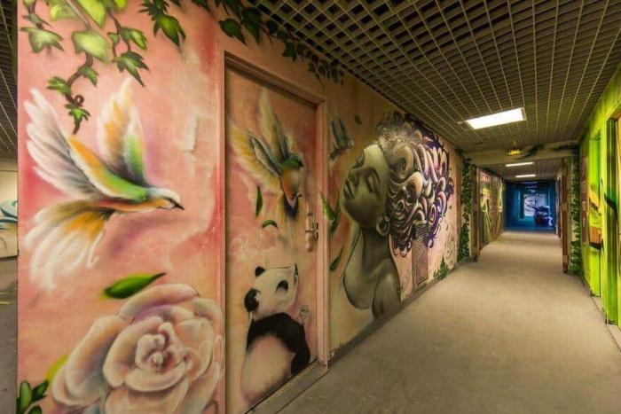 100 художников приняли участие в разрисовке стен общежития
