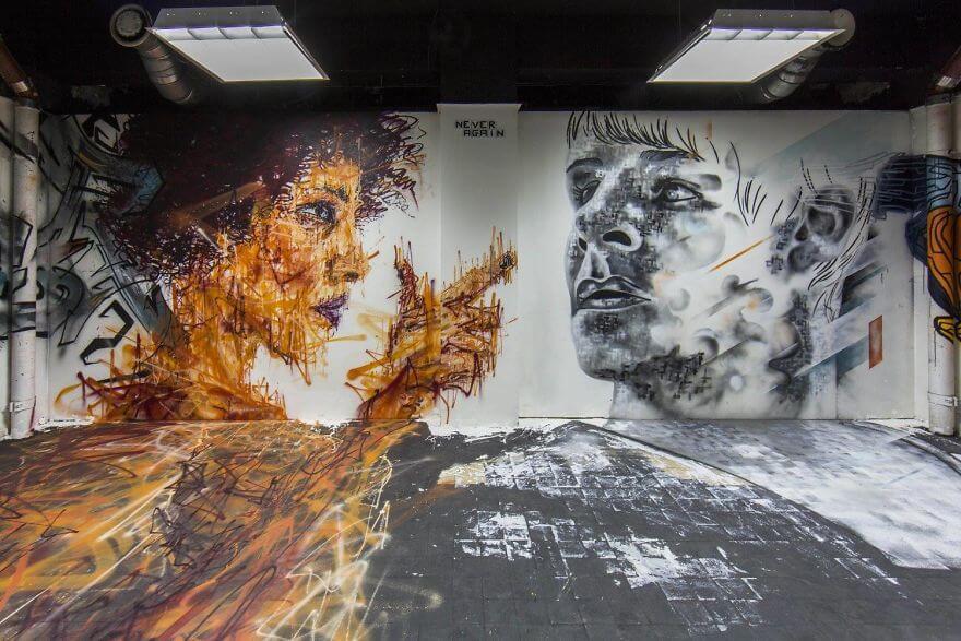 художники разрисовали стены студенческого общежития, фото 8