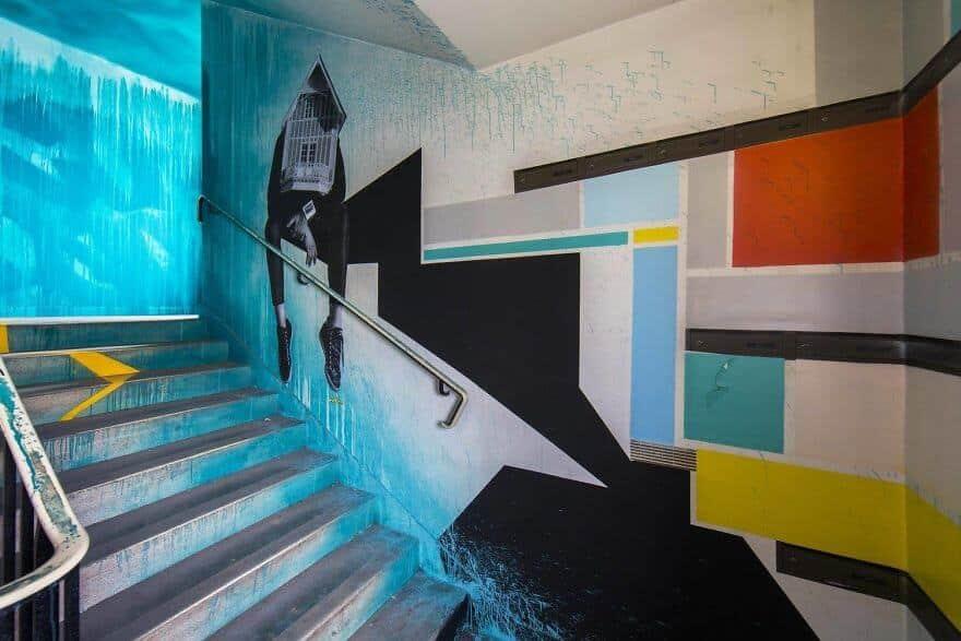художники разрисовали стены студенческого общежития, фото 9