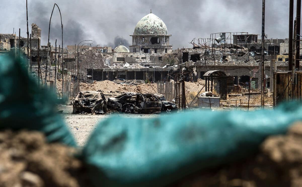 иракский город Мосул во время боев, фото 2