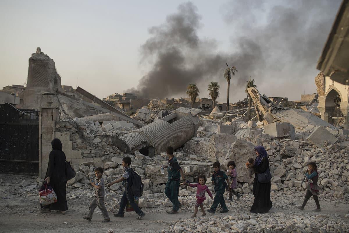 иракский город Мосул во время боев, фото 21