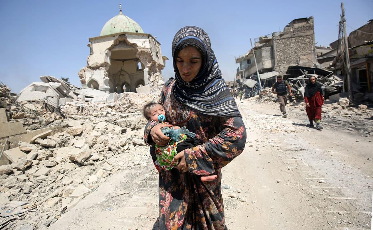 иракский город Мосул во время боев, фото 26