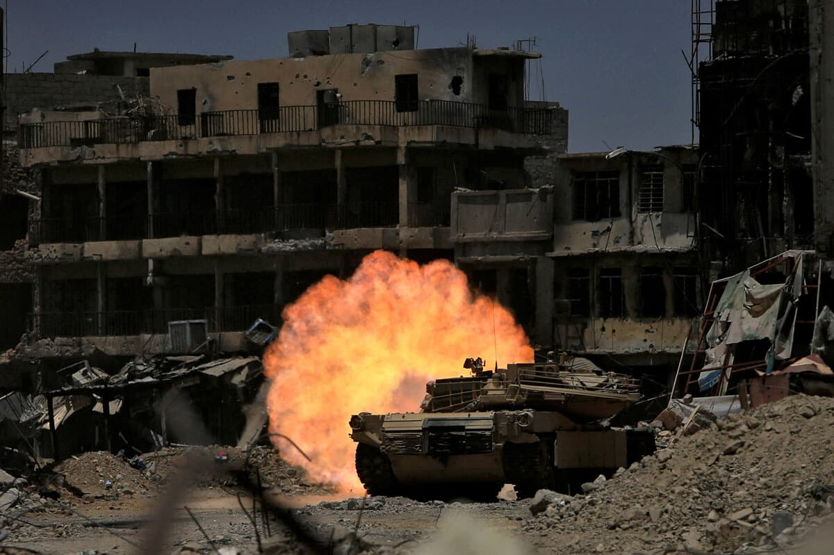 иракский город Мосул во время боев, фото 4