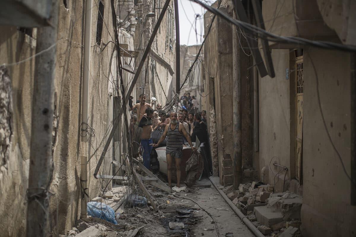 иракский город Мосул во время боев, фото 7
