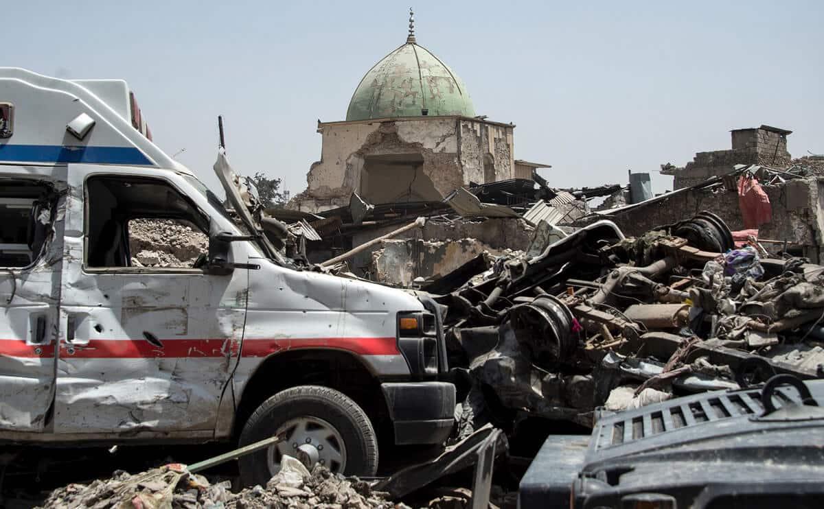 иракский город Мосул во время боев, фото 9