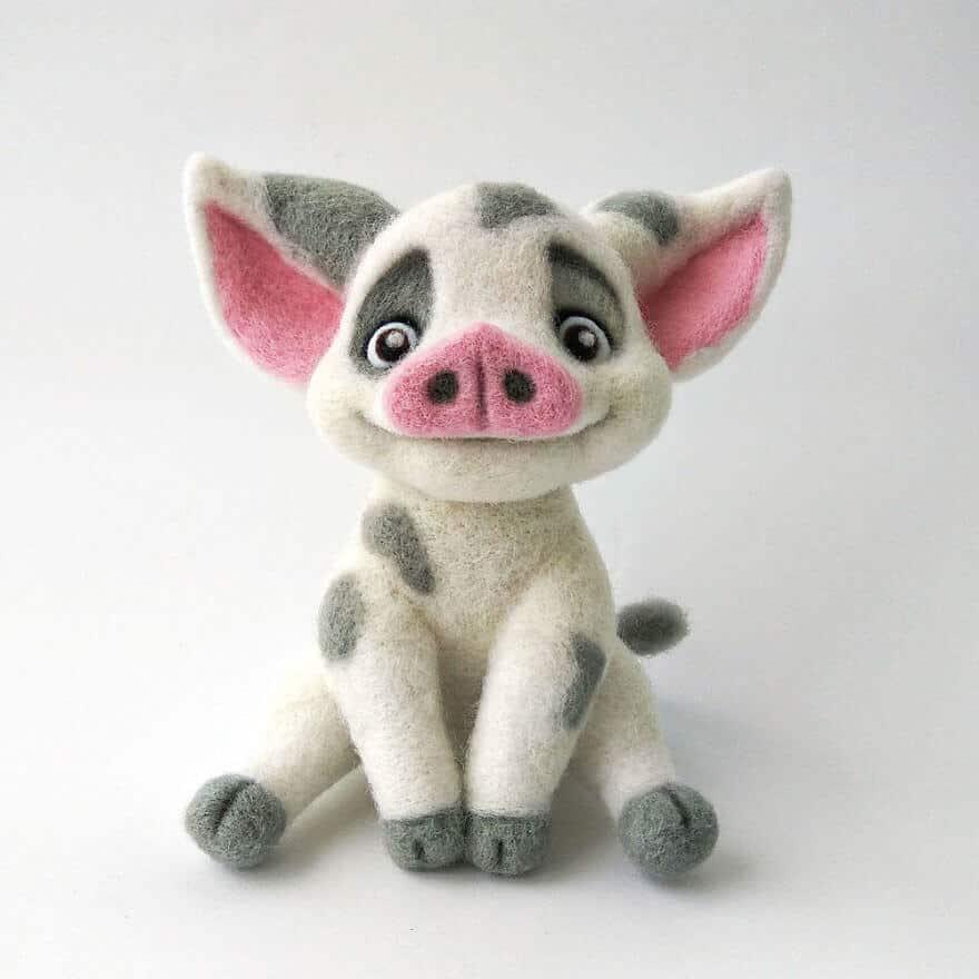 мягкие игрушки из овечьей шести, фото 2