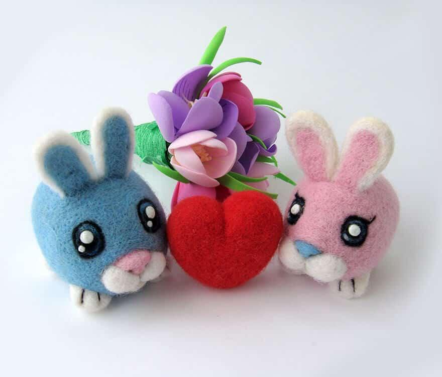 мягкие игрушки из овечьей шести, фото 27