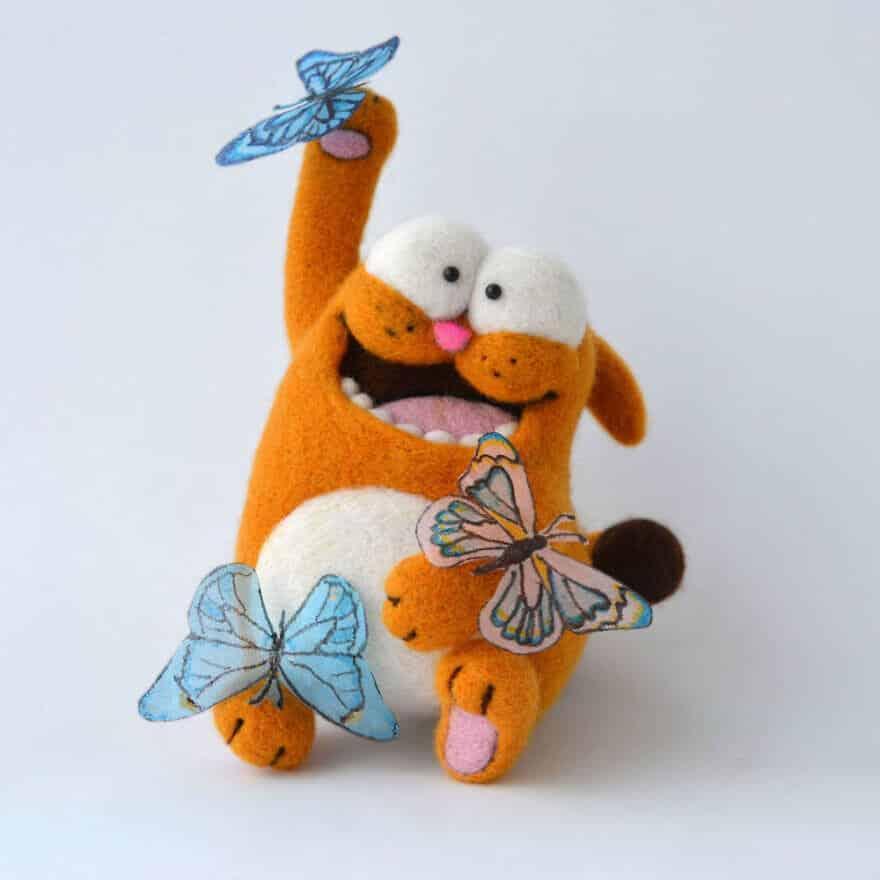 мягкие игрушки из овечьей шести, фото 8