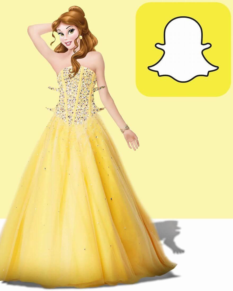 совмещение социальных сети с диснеевскими принцессами, фото 7 Snapchat