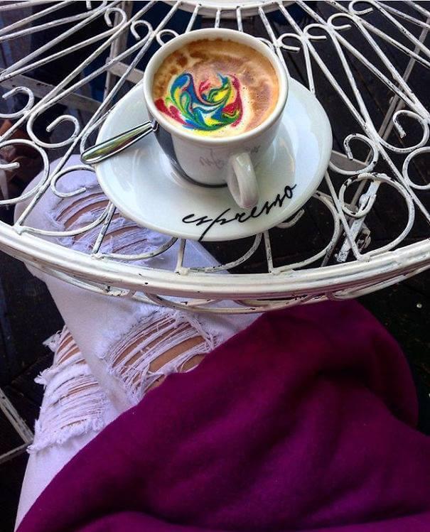 Рисунки на кофе, фото 1