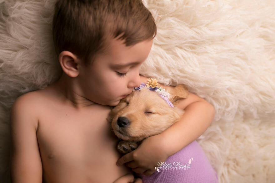 Детская фотосессия со щенком, фото 2