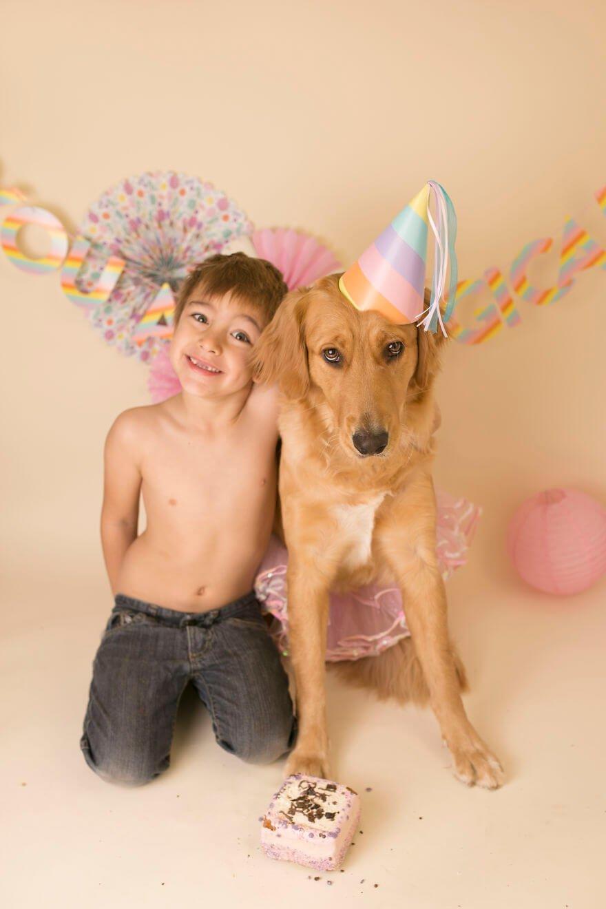 Детская фотосессия со щенком, фото 22