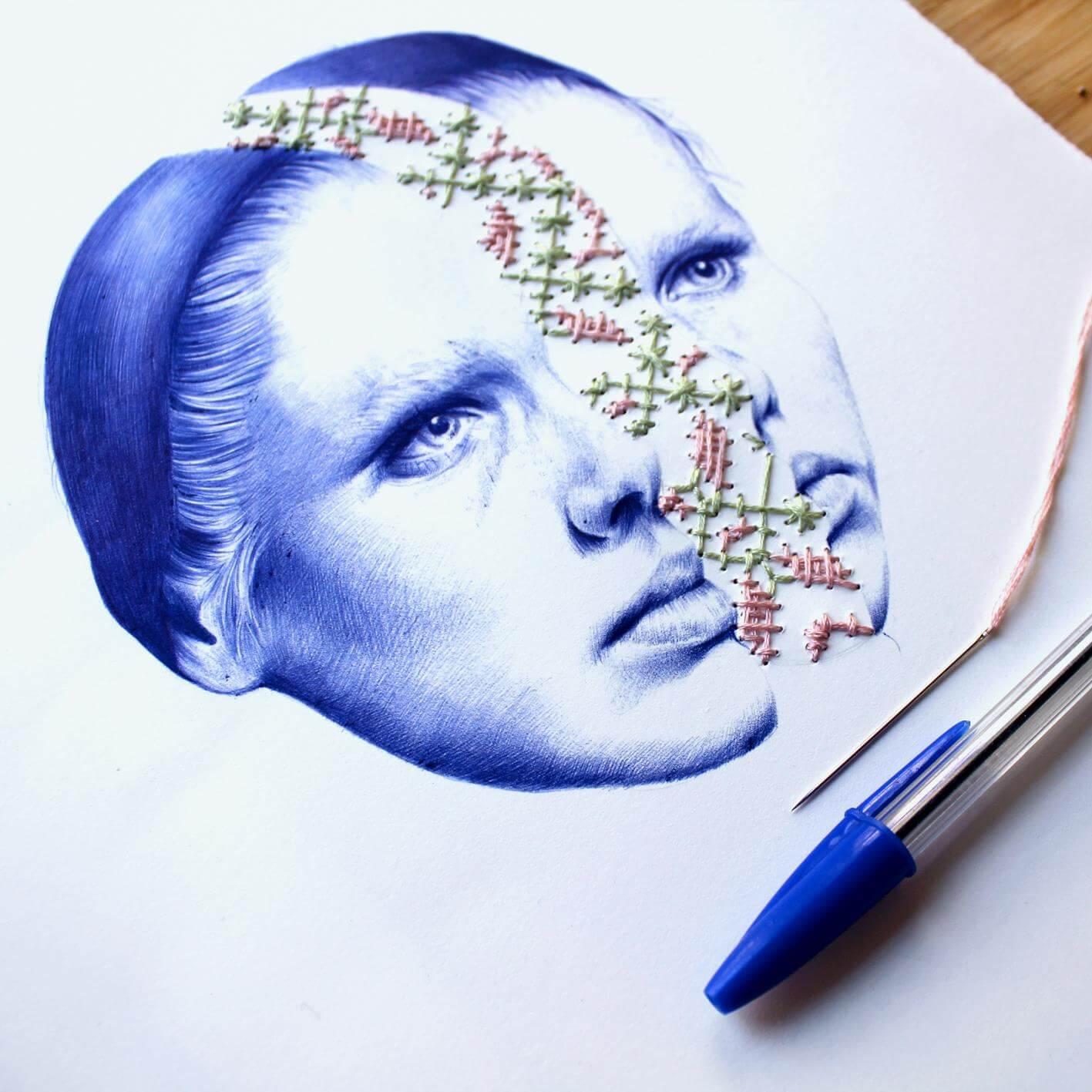 Рисунки шариковой ручки, фото 1