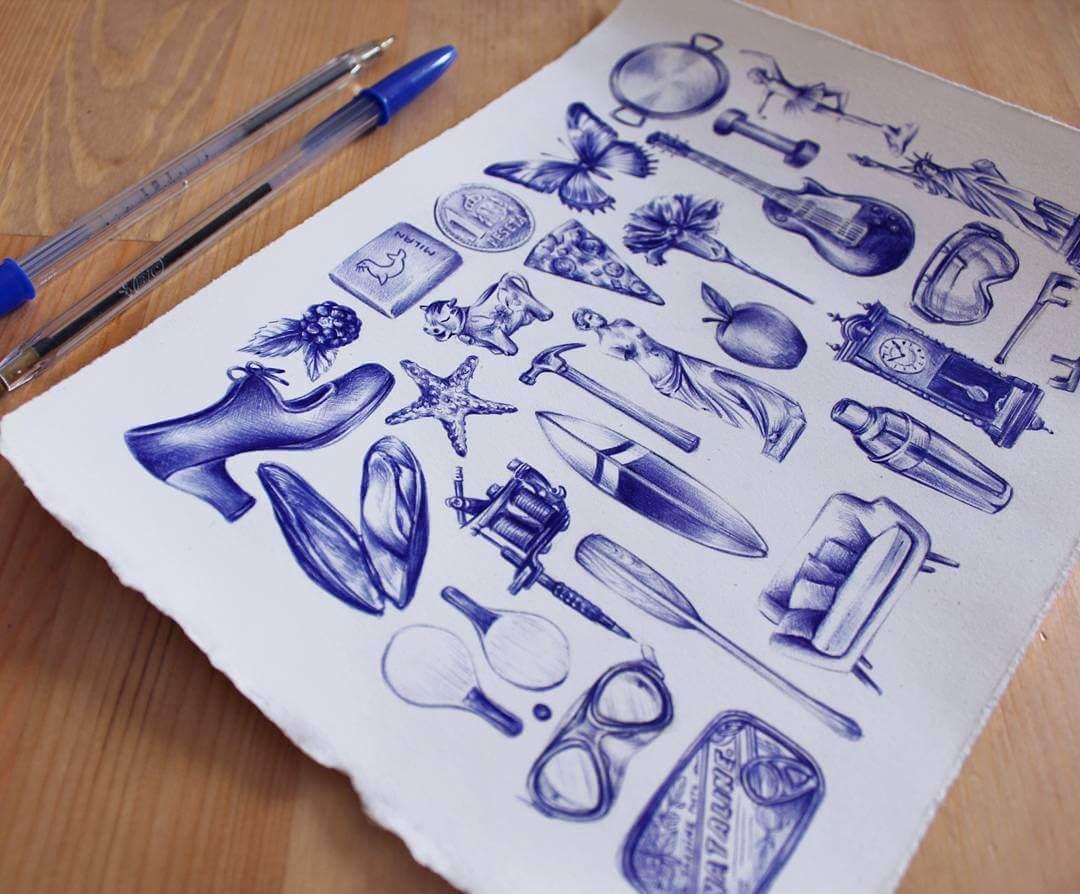 Рисунки шариковой ручки, фото 7