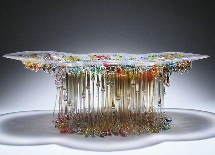 Стеклянные столы-медузы, фото 15