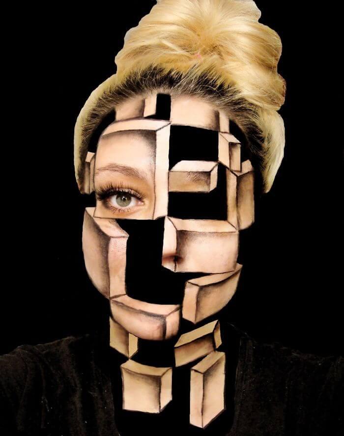 Боди-арт скрученное лицо, фото 1