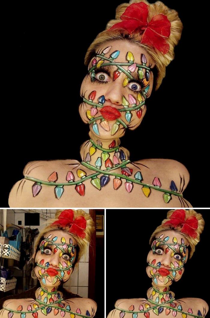 Боди-арт скрученное лицо, фото 6