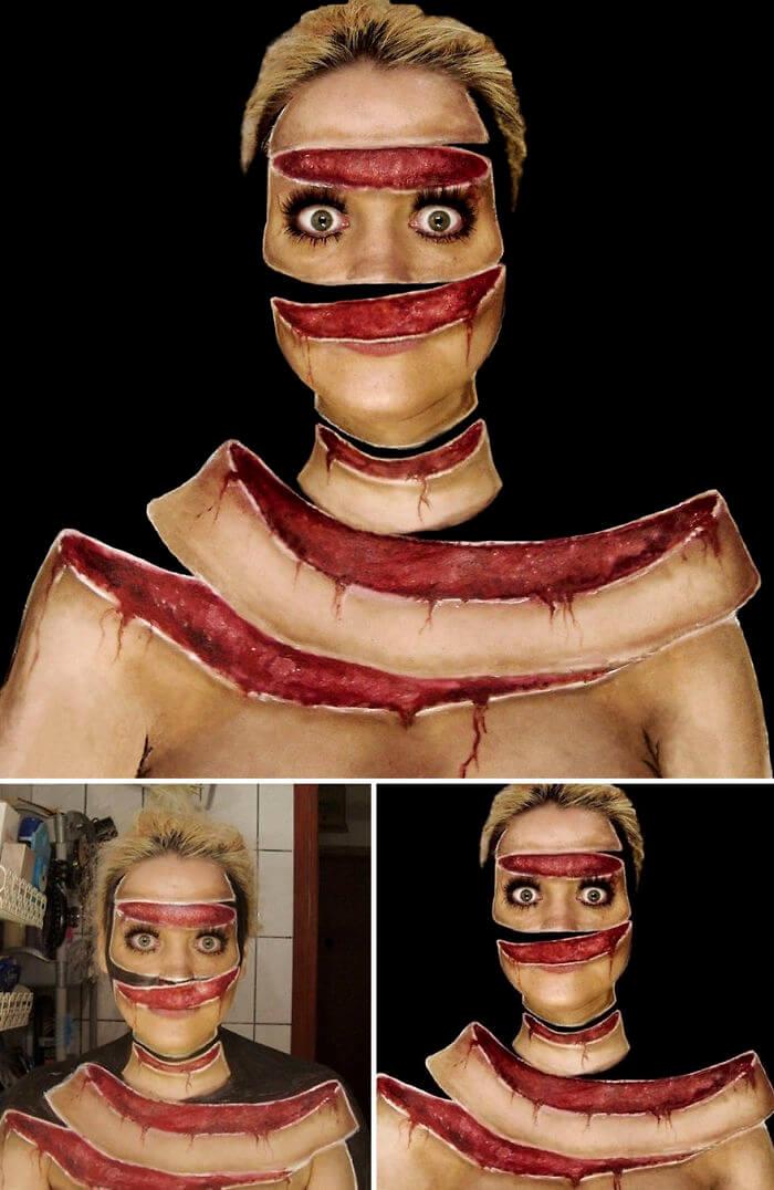 Боди-арт скрученное лицо, фото 5