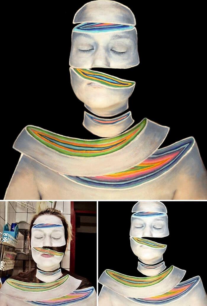 Боди-арт скрученное лицо, фото 8