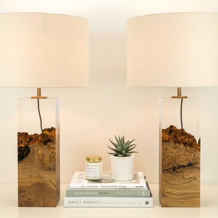 оригинальная лампа в спальне - Дерево в стекле, фото 2