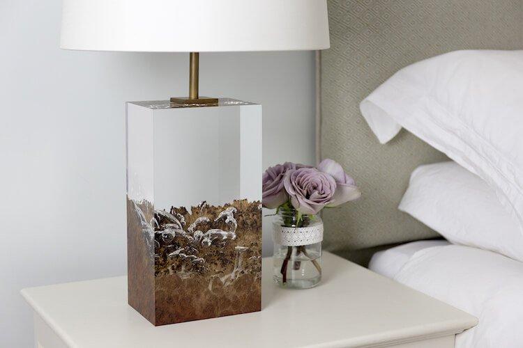 оригинальная лампа в спальне - Дерево в стекле, фото 3
