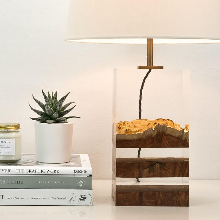 оригинальная лампа в спальне - Дерево в стекле, фото 4