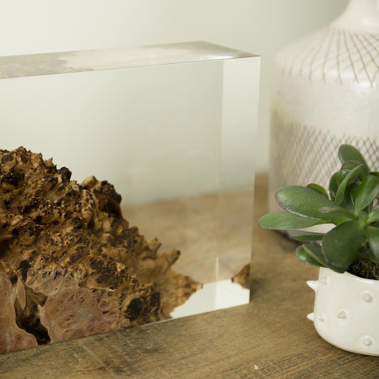 оригинальная лампа в спальне - Дерево в стекле, фото 5