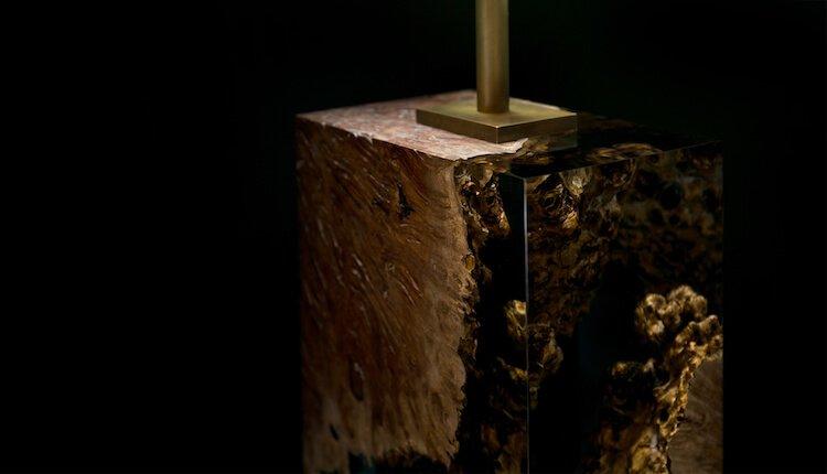 оригинальная лампа в спальне - Дерево в стекле, фото 6