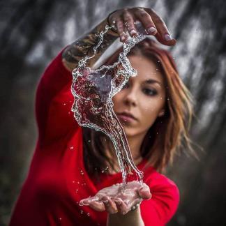 «Изгибы воды» или фотографии «водных фигур»