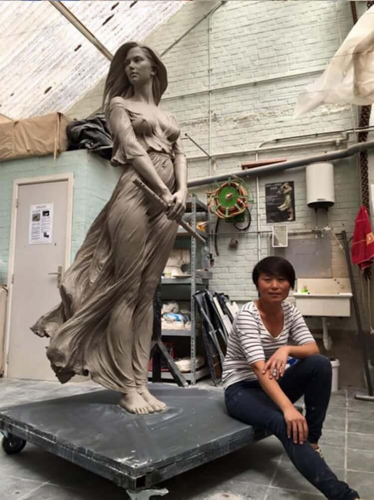 Реалистичные женские скульптуры, фото 3