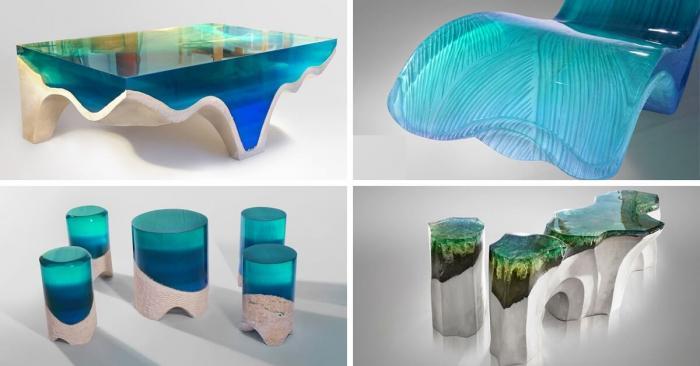 Новая каменно-акриловая стеклянная мебель приносит красоту природы в интерьер помещения