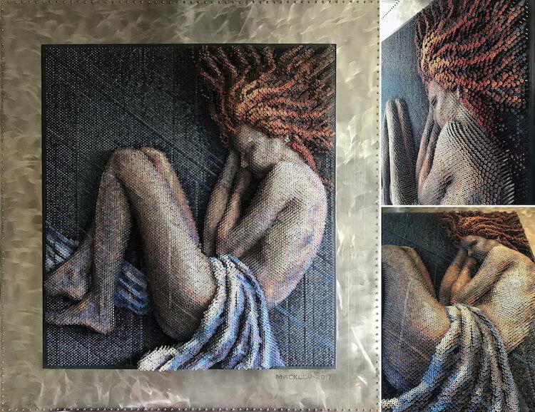 Портреты из шурупов, фото 7