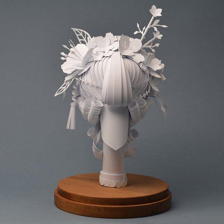 Парики из бумаги в стиле барокко, фото 11