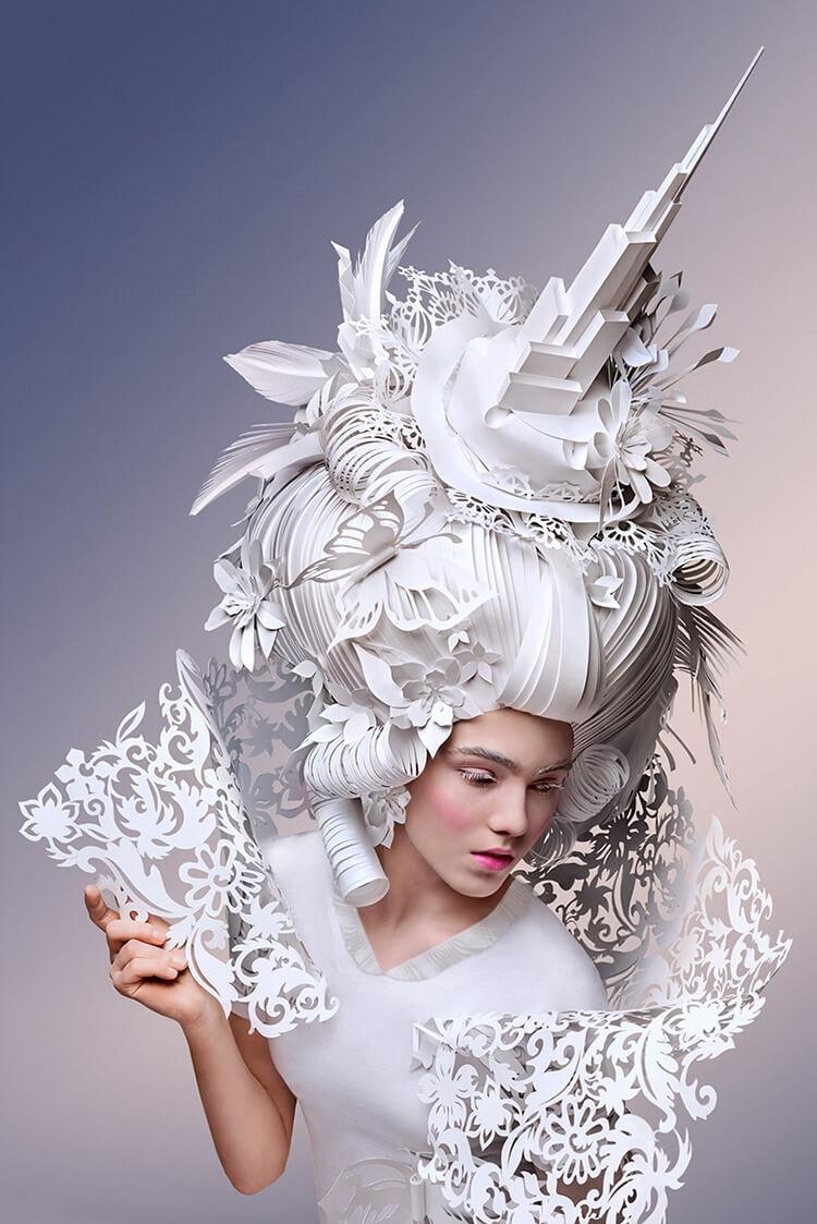 Парики из бумаги в стиле барокко, фото 12