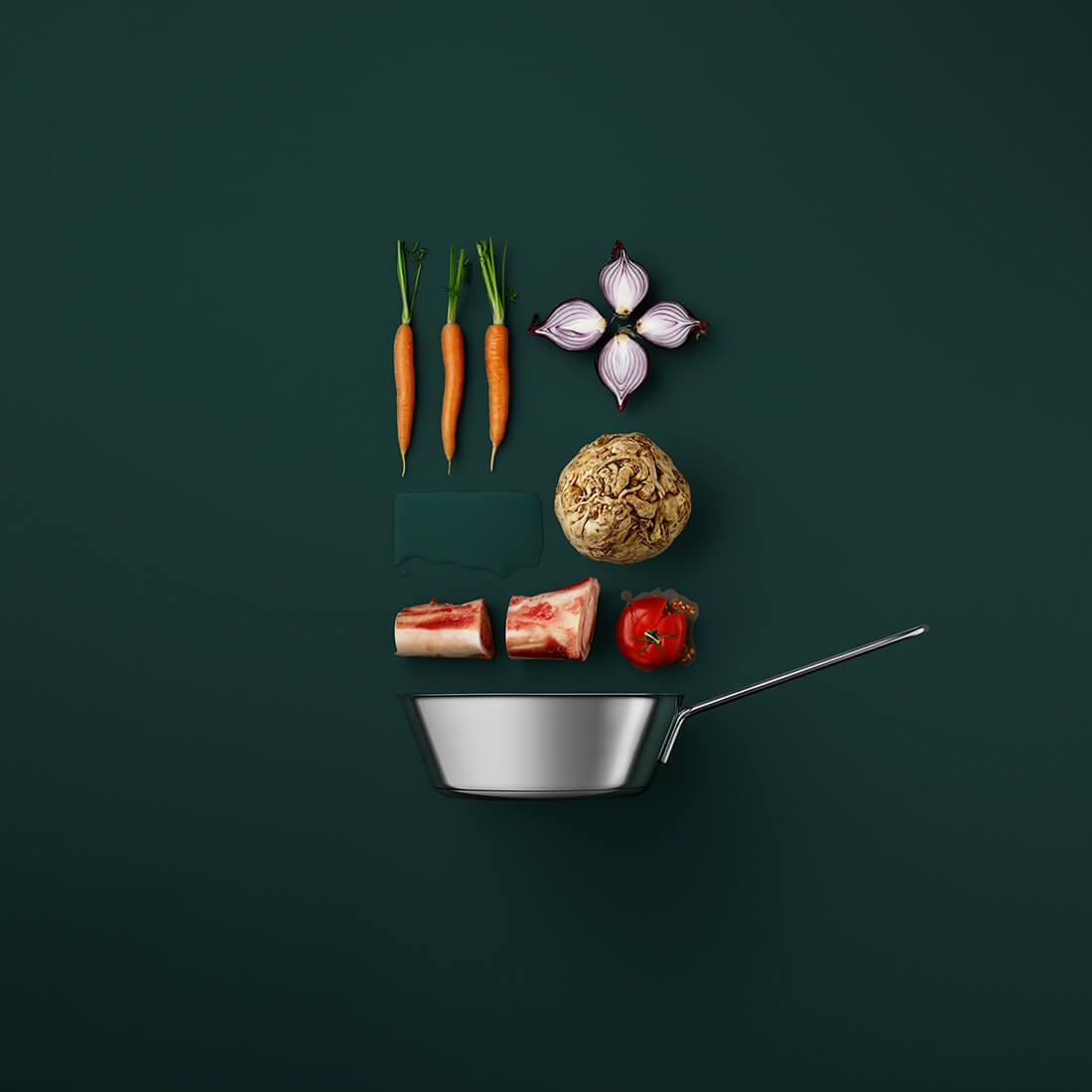Рецепты из компонентов еды, Стильные фото 1