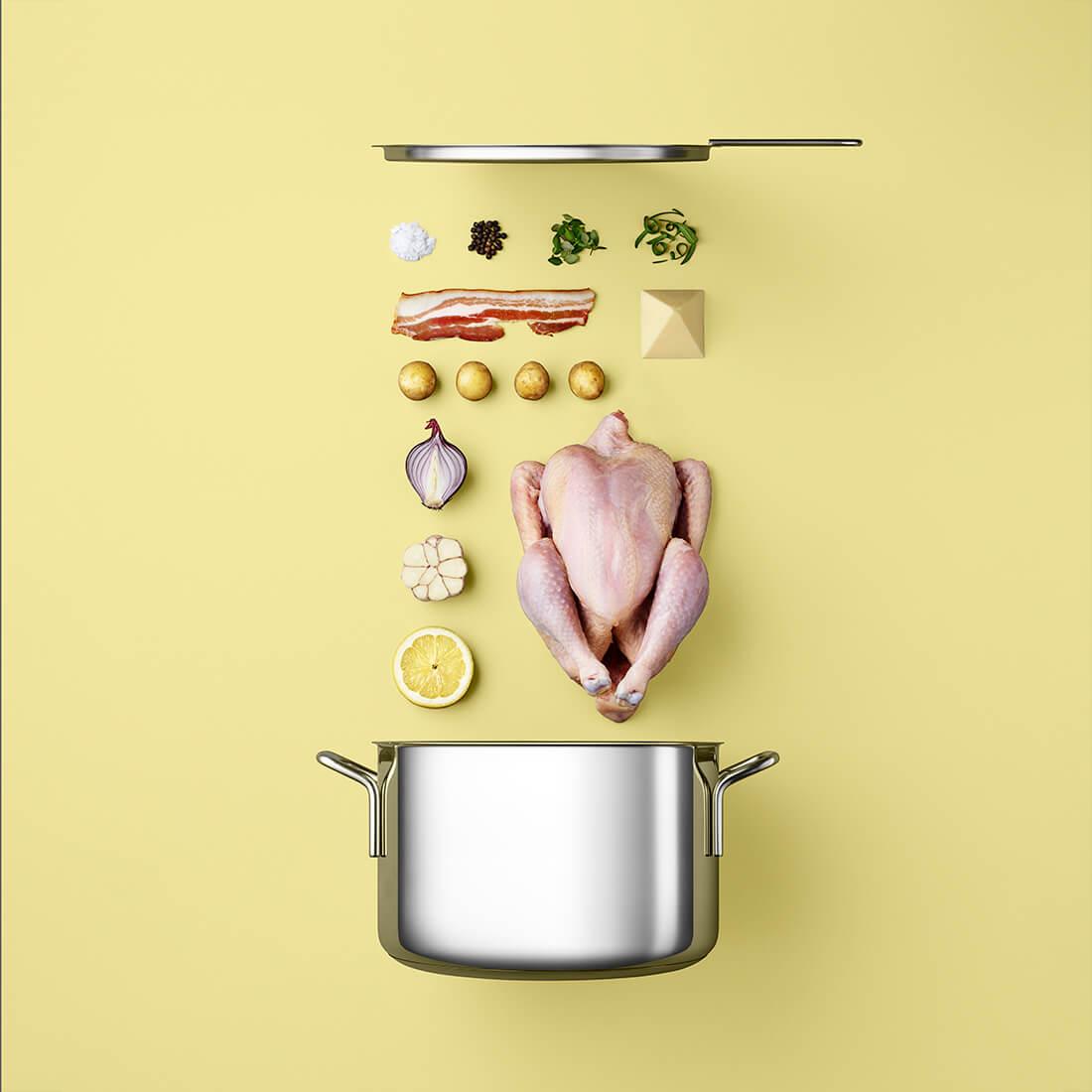 Рецепты из компонентов еды, Стильные фото 6
