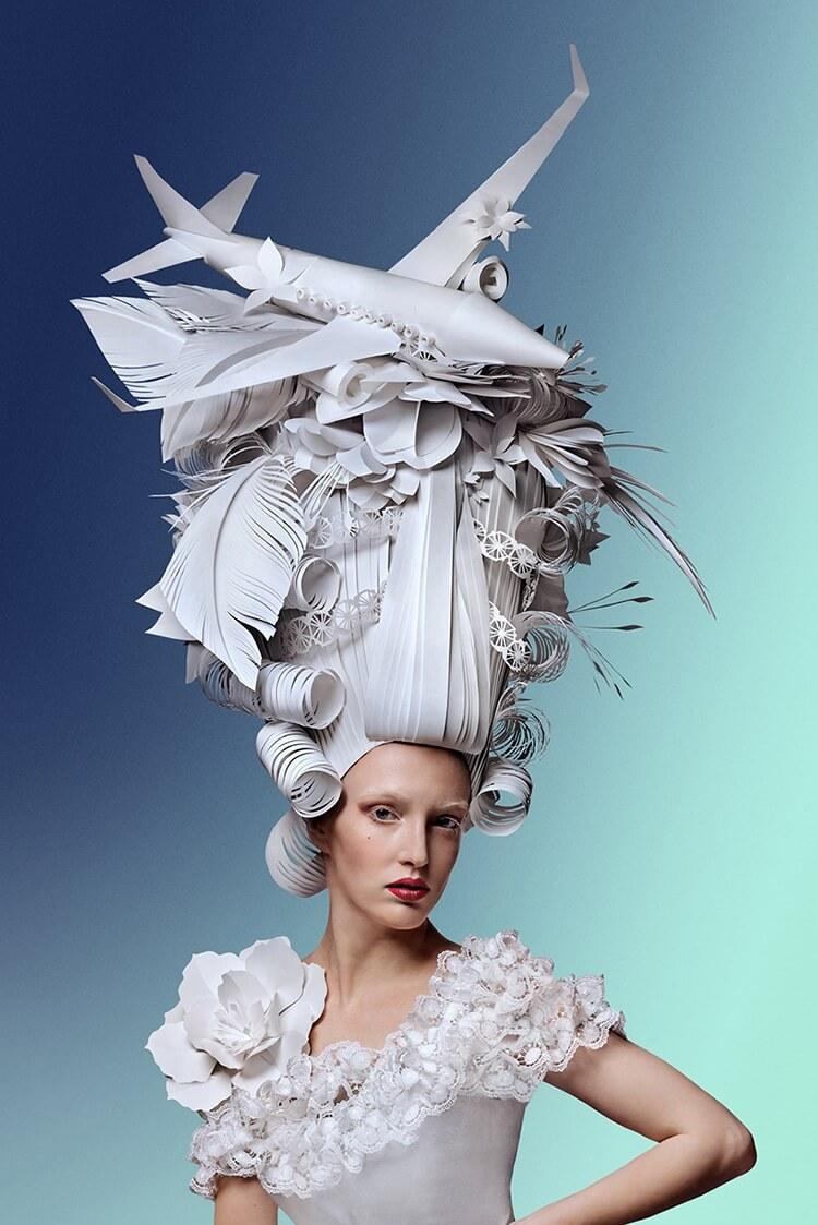 Парики из бумаги в стиле барокко, фото 1