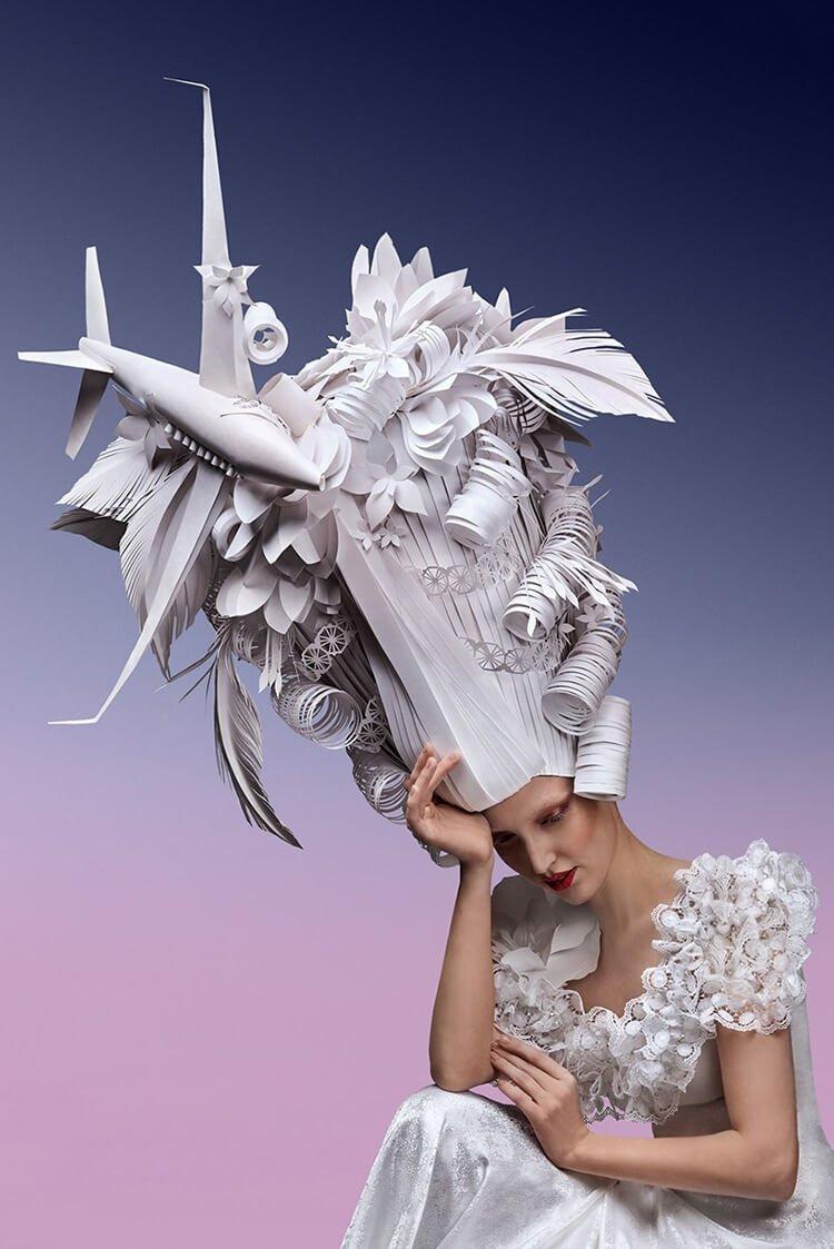 Парики из бумаги в стиле барокко, фото 9