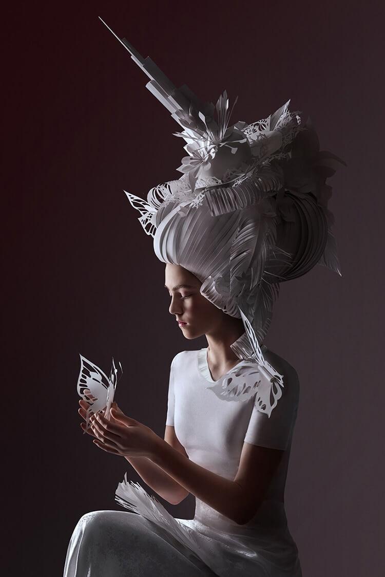 Парики из бумаги в стиле барокко, фото 3